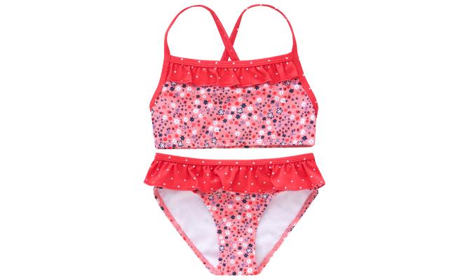 Mädchen Bikini mit floralem Muster