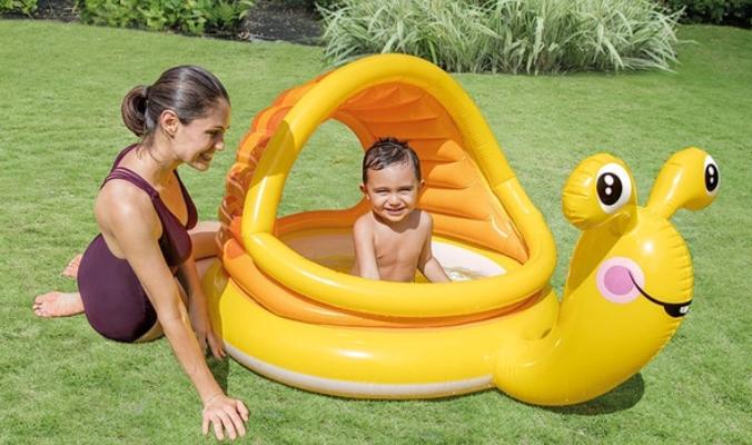 Intex Babyplanschbecken Schnecke mit Sonnendach