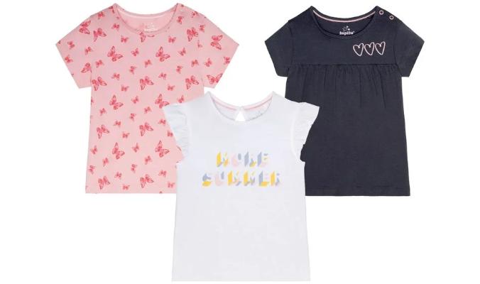 Kleinkinder T-Shirts Mädchen, 3 Stück