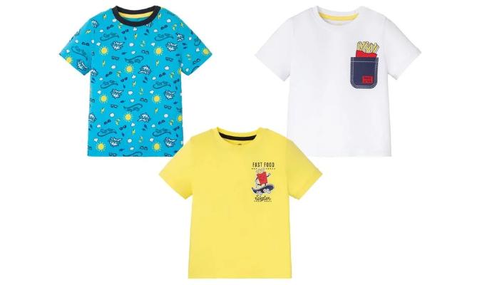 Kleinkinder T-Shirts Jungen, 3 Stück