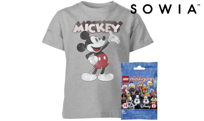 Lego Disney Minifigur + Disney T-Shirt