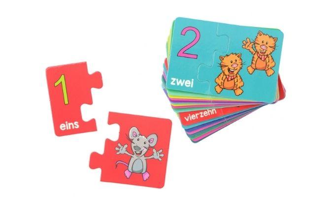 Zahlen-Lernspielkarten-Set, 42-teilig