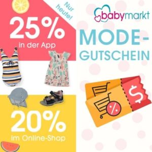 25% Rabattcode auf Mode bei babymarkt