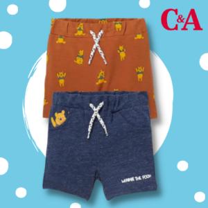 Nur 5,99€ statt 10,99€ 2er Winnie Puuh Baby-Shorts bei C&A