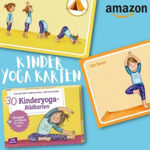 Für 18€ 30 Kinderyoga-Bildkarten bei Amazon