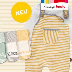 Neu: Ab 3,99€ Babymode bei Ernsting's Family