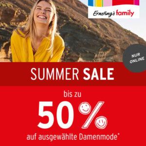 Sale: Bis zu 50% Rabatt auf Damenmode bei Ernsting's Family