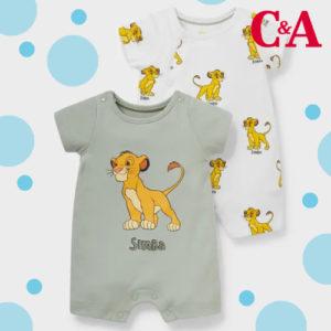 Nur 14,99€ 2er König der Löwen Baby Body bei C&A