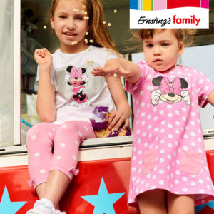 Ab 2,99€ Micky & Minnie Maus Kindermode bei Ernsting's Family