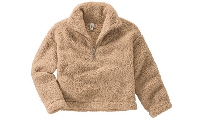 Pullover aus Teddyplüsch