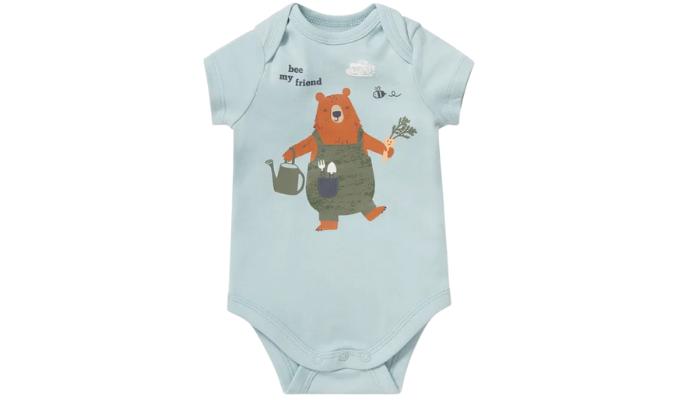 Baby Body der Baby-Body mit Bären- und Bienchen-Print
