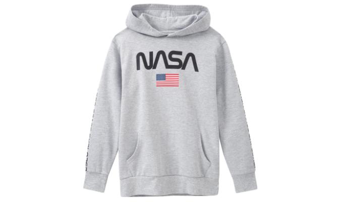 NASA Hoodie mit Schriftzug