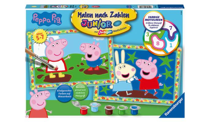 Malen nach Zahlen Peppa Pig