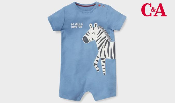 Baby Schlafanzug mit Zebra
