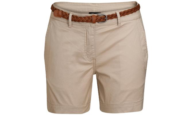 Damen Shorts mit geflochtenem Gürtel