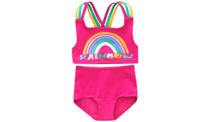 Baby Bikini mit Regenbogen-Motiv