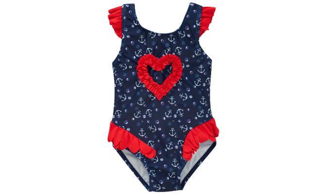 Baby Badeanzug mit Anker-Motiven