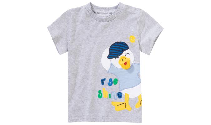 Jungen T-Shirt mit Enten-Applikation