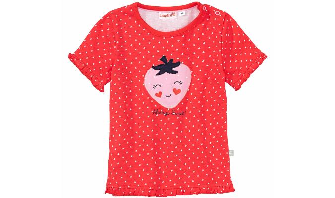 Baby-Mädchen-T-Shirt mit rosa Erdbeeren