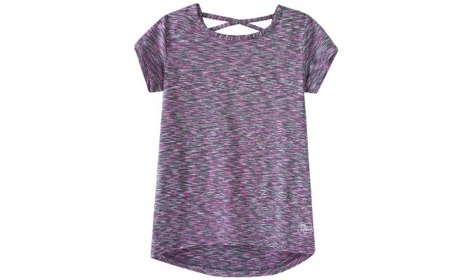 Mädchen Sport-T-Shirt mit gekreuzten Bändern