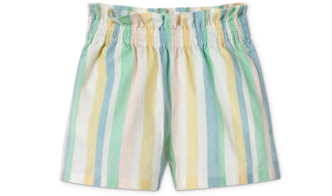 Paperbag-Shorts, mehrfarbig gestreift