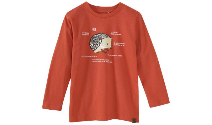 Kinder Langarmshirt mit Igel-Print