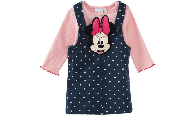 Minnie Maus Kleid und Langarmshirt
