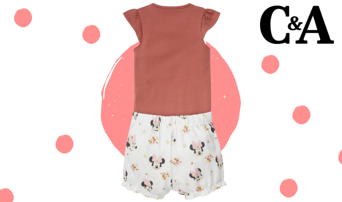 Minnie Maus - Baby-Schlafanzug