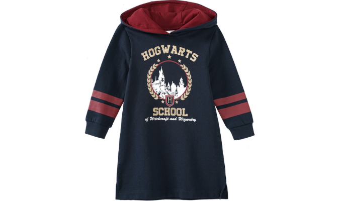 Harry Potter Sweatkleid mit Glitzer-Print