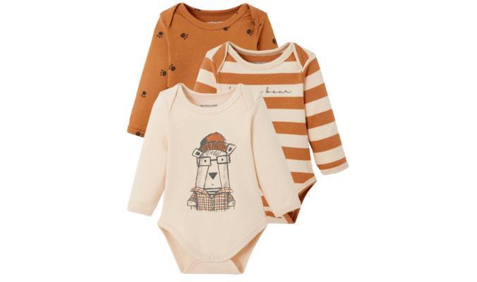 3er-Pack Baby Schlupfbodys