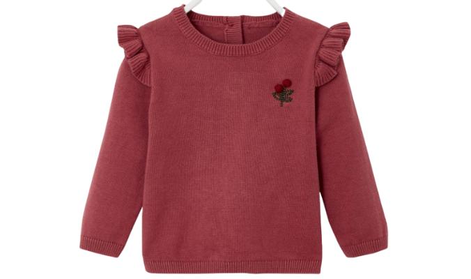 Baby Pullover mit Volants