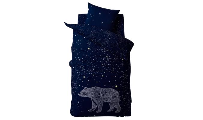 """Kinder Bettwäsche-Set """"Polarstern"""" mit Eisbär"""