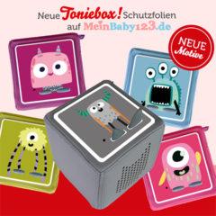 MeinBaby123 Toniebox Schutzfolien mit Monster Design