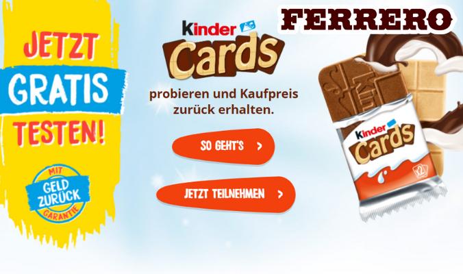 Kinder Cards gratis testen