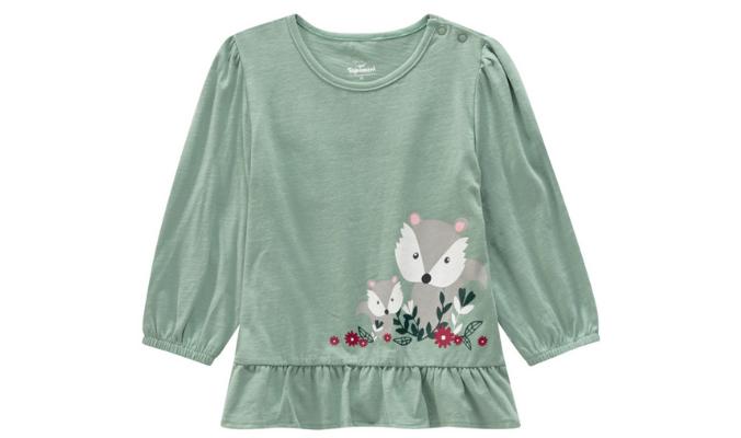 Baby Langarmshirt mit Fuchs-Print