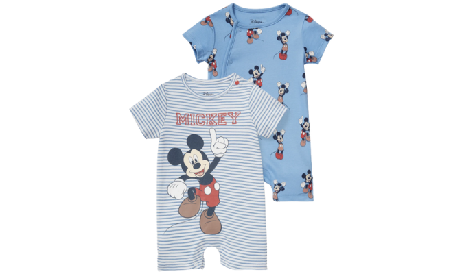 Multipack 2er - Micky Maus - Baby-Jumpsuit