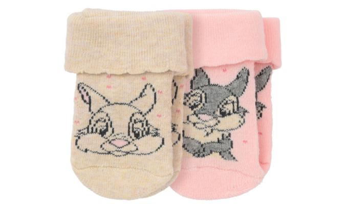 2 Paar Bambi Newborn Socken mit Umschlag