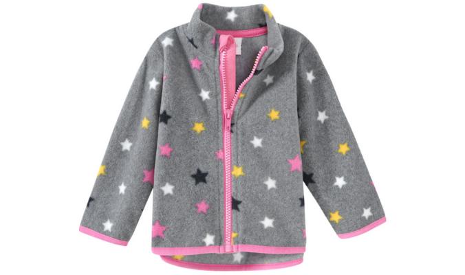 Baby Fleecejacke mit Sterne-Allover