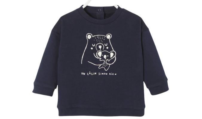 Baby Sweatshirt mit Tier-Print