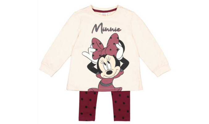 Baby Set aus Langarmshirt und Leggings - Minnie Mouse