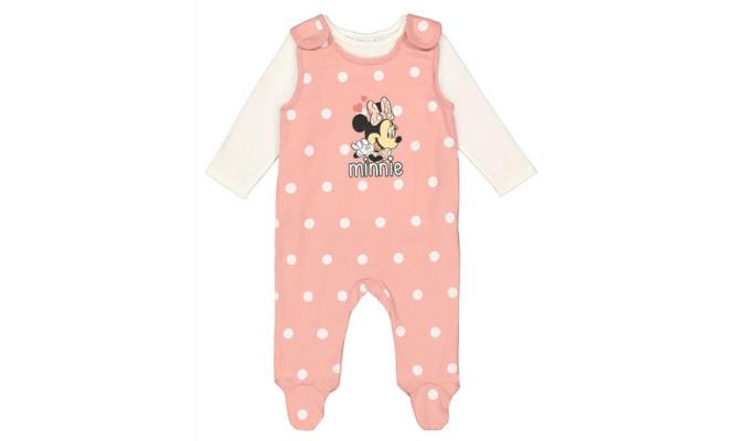 Baby Set aus Langarmshirt und Strampler - Minnie-Mouse