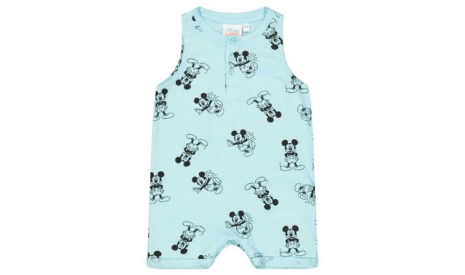 Newborn Onesie mit Mickey Mouse-Print