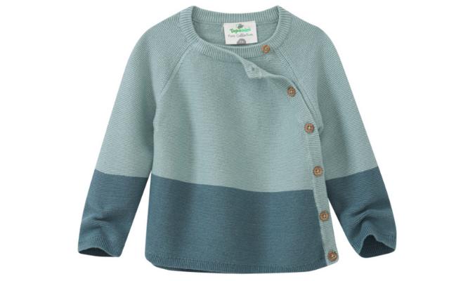 Baby Pullover mit schräger Knopfleiste