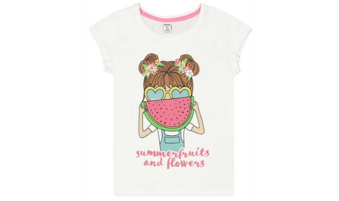 Mädchen T-Shirt - Glitzer-Print