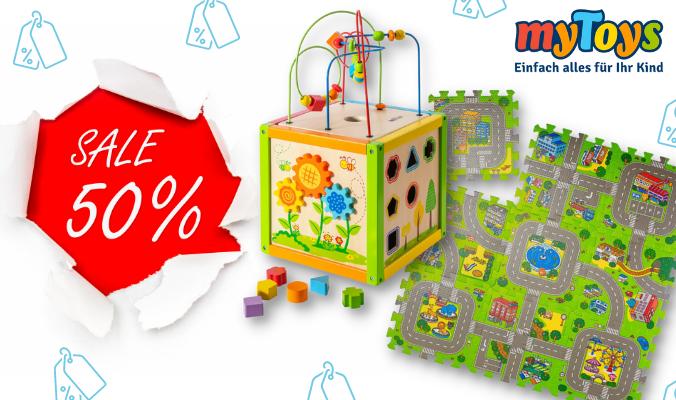 50% Sale Kinderspielsachen