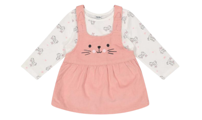 Newborn Set aus Langarmshirt und Kleid