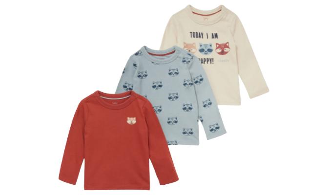 3er - Baby-Langarmshirt