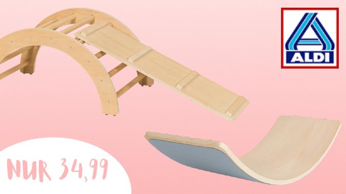 Aldi Nord Holz-Klettergerüst im Angebot
