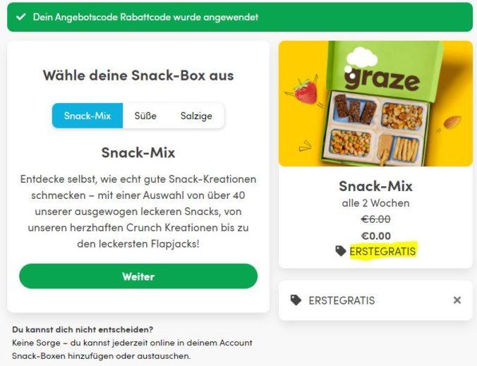 gratis snackbox