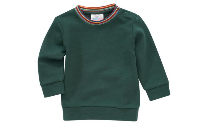 Baby Sweatshirt mit Schulterknöpfung